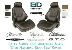 Complete Bucket Seats W Matching Rear Seat Cover For Gm A Body s Any Color