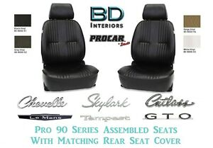 Complete Pro 90 Bucket Seats W Matching Rear Cover For Gm A Body S Any Color