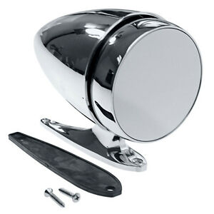 Hotrod Muscle Car Universal Chrome Bullet Style Side Mirror Free Shipping