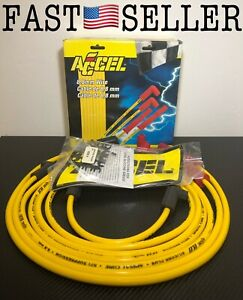 Accel 8893 Spark Plug Wires 8 8mm Spiral Core Custom Fit Yellow New Fast