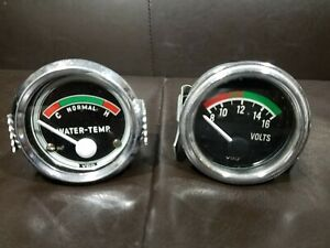 Vdo Electrical Gauges Pair Volt Gauge Water Temperature Gauge