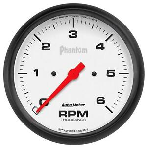 Auto Meter 5876 Gauge Tachometer 5in 6k Rpm In dash Phantom