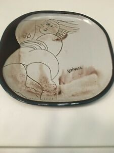 Gorgeous Hand Oil Painting On Tile Plate Signed By S Espinosa Mb65