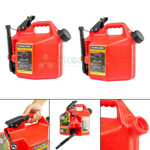 2 Surecan 2 2 Gallon Gas Cans With Rotating Spout Fuel Can Thumb Trigger Sur22g1
