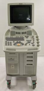 Philips Envisor Hd M2540a C 1 4 Ultrasound System With Transducer And Printer