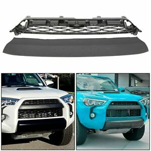 For 2014 2019 4runner Trd Pro 2 Piece Grill Front Bumper Grille Replacement Abs