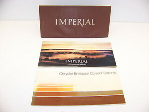 1972 Chrysler Imperial Operators Manual Chrysler Emission Control Systems