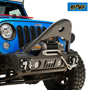 Eag Offroad Stinger Front Bumper With Winch Plate Fit For 07 18 Jeep Wrangler Jk