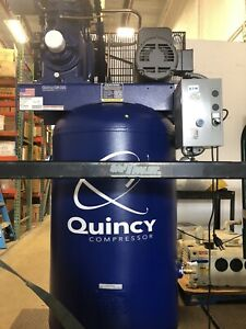 Quincy Qt 5 5 hp 1 ph 80 gal Air Compressor 150933 633 230v Vertical