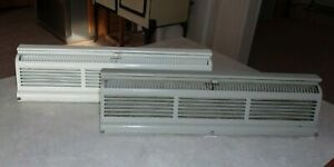 2 Vtg Industrial Floor Heater Vent Grate Register Adjustable Louvers Wall Mount