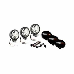 Rugged Ridge Halogen Off Road Lights 100w Round 6 Dia Clear Lens 1520761