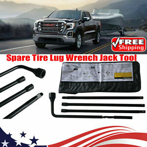 Spare Tire Lug Wrench Jack Tools Kit For Chevy Gmc Sierra 3500 Hd Truck Suv Usa