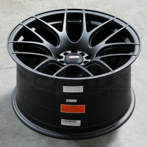 17x7 Flat Black Wheels Xxr 530 4x100 4x114 3 35 Set Of 4