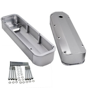 Fit For Ford Bbf 429 460 V8 Big Block Brushed Finish Aluminum Tall Valve Covers