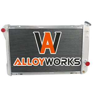 4 Row Aluminum Radiator For 1982 1992 Chevy Camaro pontiac Firebird Trans Am V8