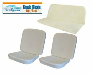 1956 64 Vw Bug Front And Rear Molded Seat Foam Set