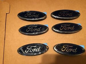 Lot Of 6 Ford 5 3 4 Inch Stick On Front Or Rear Blue Oval Emblem Stick Anywhere