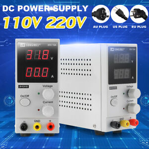 110v 30v 10a Lcd Dc Power Supply Digital Switching Regulated Adjustable Lab C