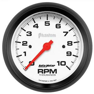 Autometer Phantom Series Tachometer 0 10 000 3 3 8 Dia In dash White Face 5897
