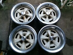 Pontiac Firebird Trans Am Gto 15x7 Hw Code Rally Ii Wheels Set Of 4 With Trim