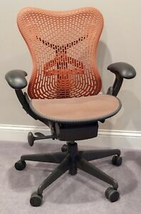 Herman Miller Mirra Office Chair Ergonomic Orange Task Chair