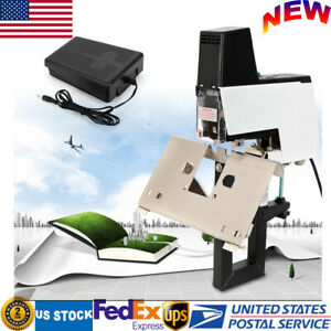 Table Movable Flat And Saddle Stapler Auto electric Binder Machine W Foot Pedal