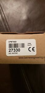 Banner Opbt3qd Photoelectric Sensor Beam Head New In Box