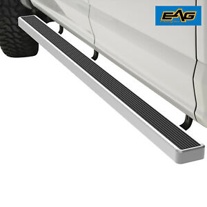 Eag Chrome Aluminum Running Board 5 bracket Fit 07 17 Toyota Tundra Double Cab