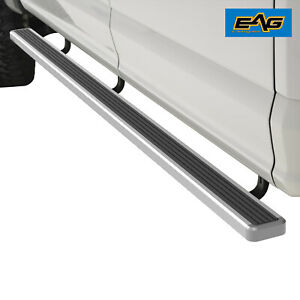 Eag Running Board Aluminum 4 Chrome And Hd Bracket Fit 02 08 Ram 1500 Quad Cab