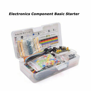 Basic Beginners Electronics Prototyping Breadboard With Components Kit Practical
