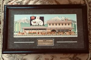 1997 Coca-Cola Limited Edition Framed 6 Train Pins Collectible Set~#0487 of 2500