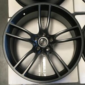 19x10 19x11 Matte Black Wheels Gt Style Fit Ford Mustang 5x114 3 35 50 Set Of 4