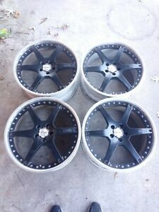 4 20 Oz Racing O Z Galileo Wheels 5x114 3 20x9 42 Rare 3 Piece Custom Jdm