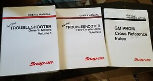 Snap on Fast Track Troubleshooter Diagnostic Gm General Motors Manual Volume 1 2