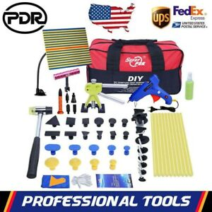 Pdr Paintless Dent Removal Lifter Puller Bridge Hammer Glue Gun Repair Tools Kit