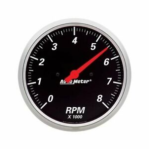 Autometer Designer Black Tachometer 0 8 000 5 Dia In dash Black Face 1499