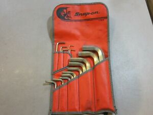Snap on C 84 B 15 Pc Allen Wrench Set In Original Pouch Free Shipping