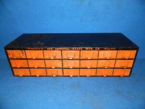 Vintage Metal Storage Cabinet With 21 Drawers Parts Bins Equipto Lyons Dorman