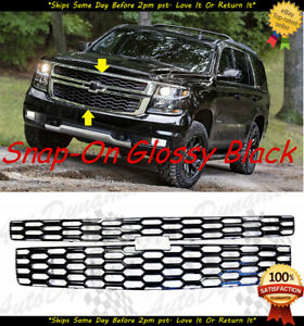 2015 2020 Chevy Tahoe Suburban Glossy Black Snap Over Grille Overlay Lt Ls Model