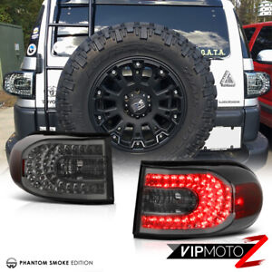 For 07 15 Toyota Fj Cruiser Titanium Smoke Led Smd Tail Light Lamps Assembly New