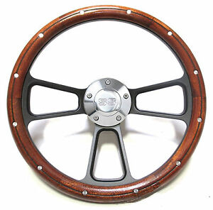 Custom Mahogany Billet Steering Wheel For Chevy Super Sport Models