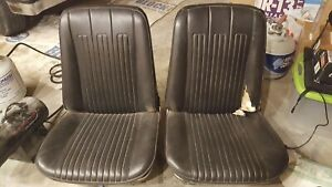 1968 Oem Bucket Seats With Tracks Gto Chevelle Lemans Judge 442 Gm A Body
