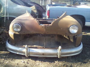 1946 48 Desoto Suburban Front End No Grille Or Hood But Very Nice Bumper