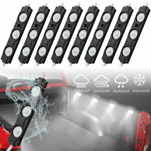8pc Waterproof Pickup Truck Bed Light 24 Led Pod Kit Strip White With Switch