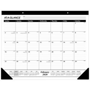 case Of 24 2020 At a glance 22 X 17 Monthly Desk Pad Calendars Sk24 00 20