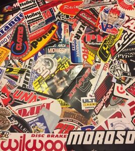 Large Lot 50 Racing Decals Stickers Nhra Nascar Chevy Ford Mopar Grab Bag