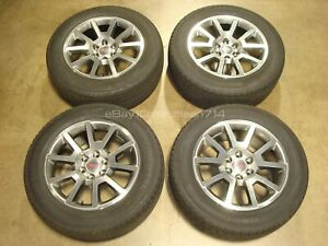 20 Gmc Yukon Sierra 1500 Denali Wheels Tires Machined Factory Rims Oem