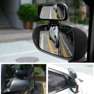 1pc Car Blind Spot Mirror Adjustable Rear View Mirror Wide Angle Auxiliary Park
