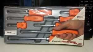 Snap On Tools New Bright Orange Hard Handle Screwdriver Set Sddx80o Unopened