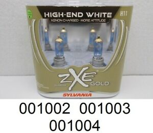 new Sylvania Silverstar Zxe Gold H11 55w Two Halogen Lamps High end White